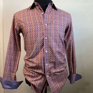 Bugatchi mens shaped fit button down long sleeve S